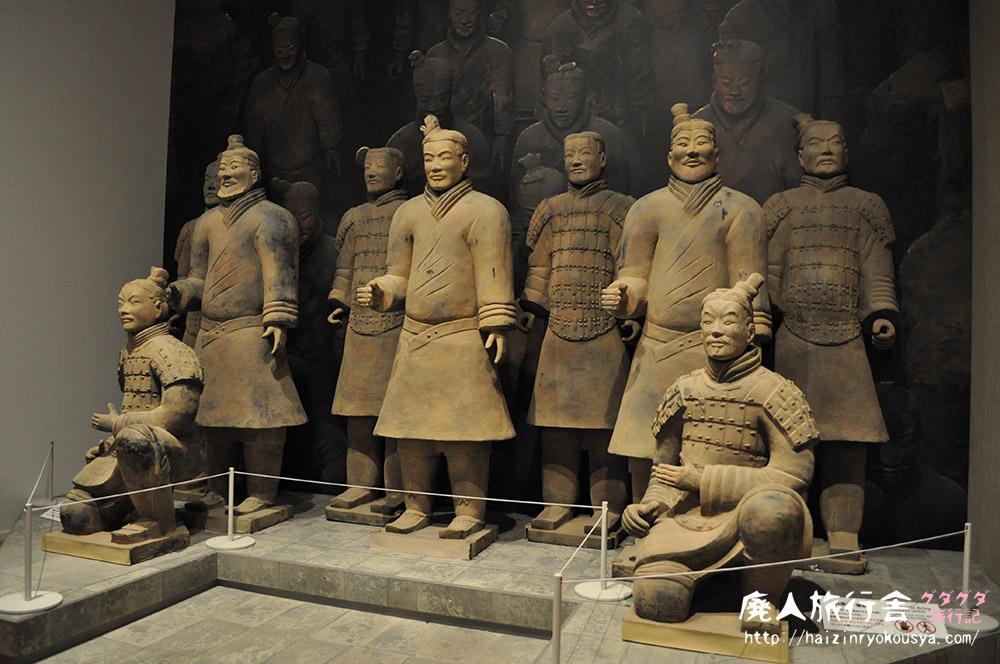 兵馬俑(複製だけど)と記念撮影!「始皇帝と大兵馬俑展」国立国際美術館(大阪)