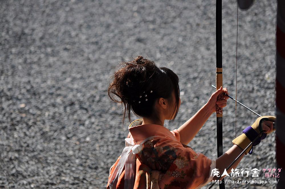 楊枝のお加持と通し矢。蓮華王院・三十三間堂へ行く。(京都)