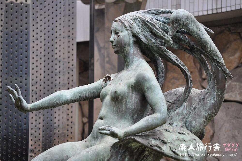 しろちかの裸婦像。 冬の青春18きっぷ・岡山旅行記その6(岡山)