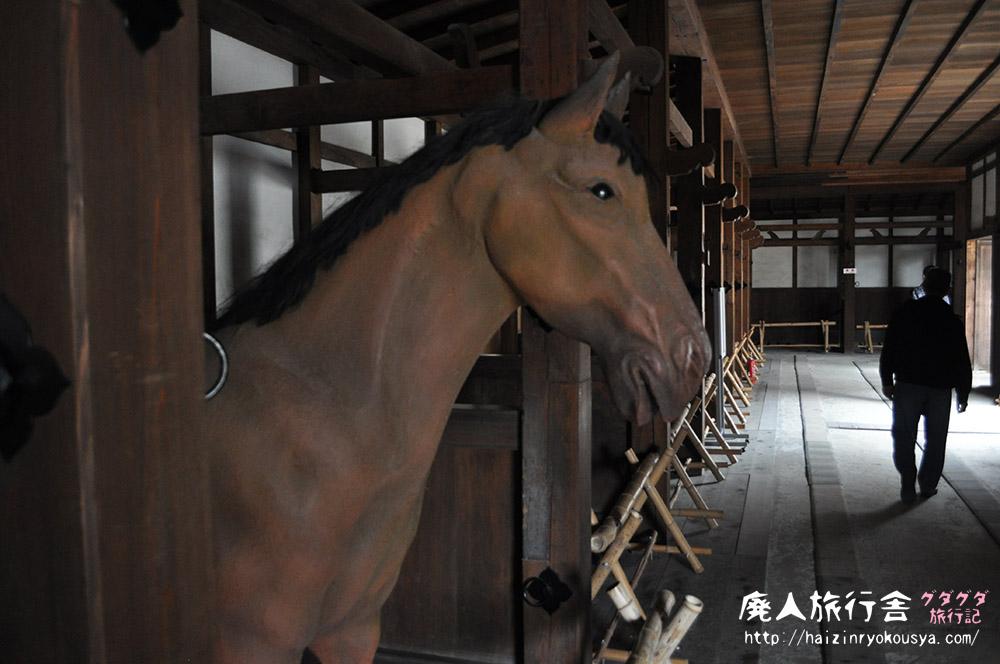 彦根城の馬屋で馬人形を見た話。(滋賀)