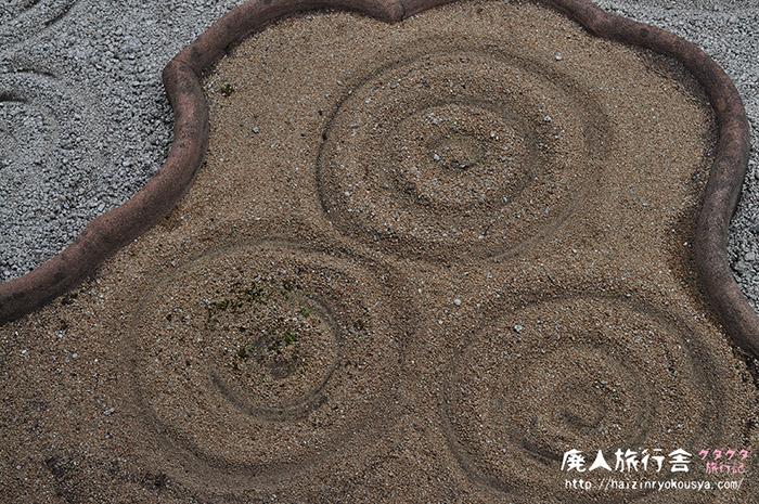 うずまきぐるぐるな枯山水庭園。霊雲院臥雲庭(京都)