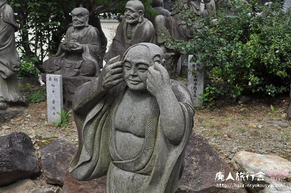 新緑の獅子吼の庭が美しい宝厳院は羅漢さんだらけ。(京都)