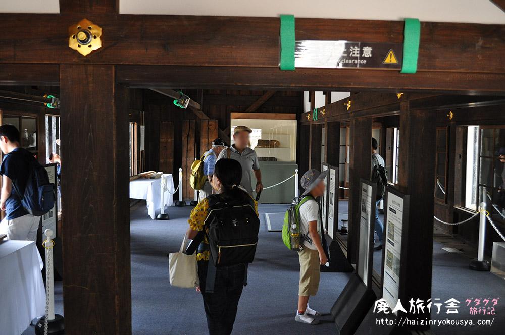 修復完成記念で特別公開していた二条城東大手門櫓に入ってみた。(京都)